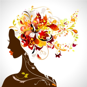 Color-Flower-Head-Women-Vector-Illustration-1